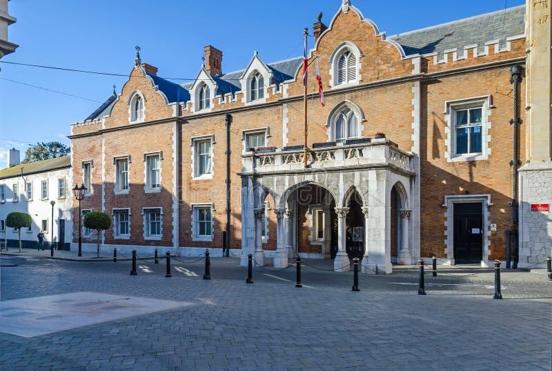 对州长的议院,女修道院的缅街入口,在直布罗陀 免版税库存图片