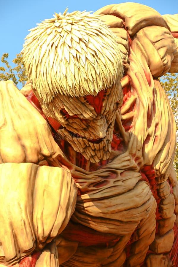 对巨人的攻击 免版税库存照片