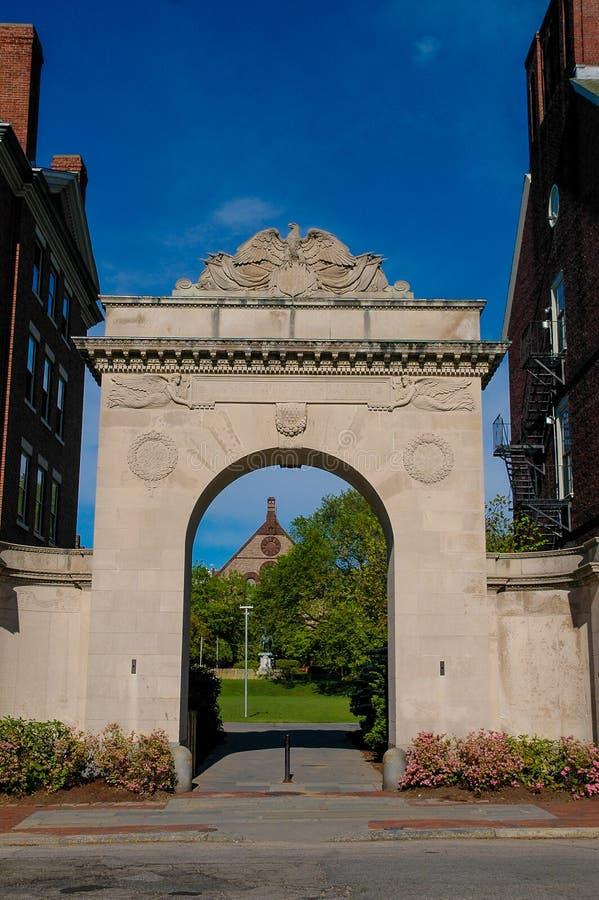 对布朗大学的入口,上帝, RI 免版税库存图片