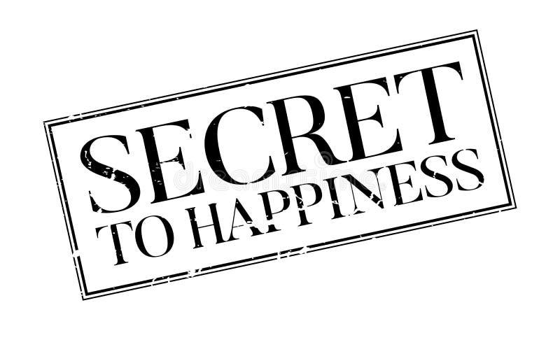 对幸福不加考虑表赞同的人的秘密 向量例证