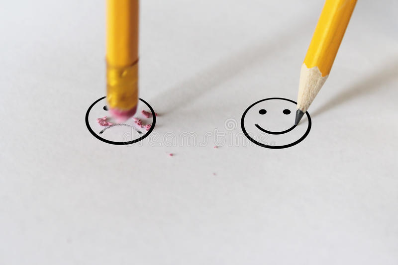 对幸福的悲伤 免版税库存照片