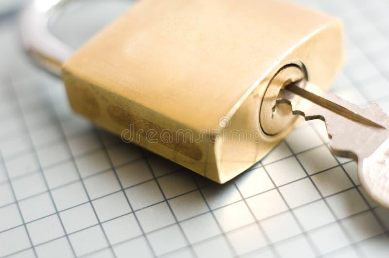 对开锁的关键成功 库存图片