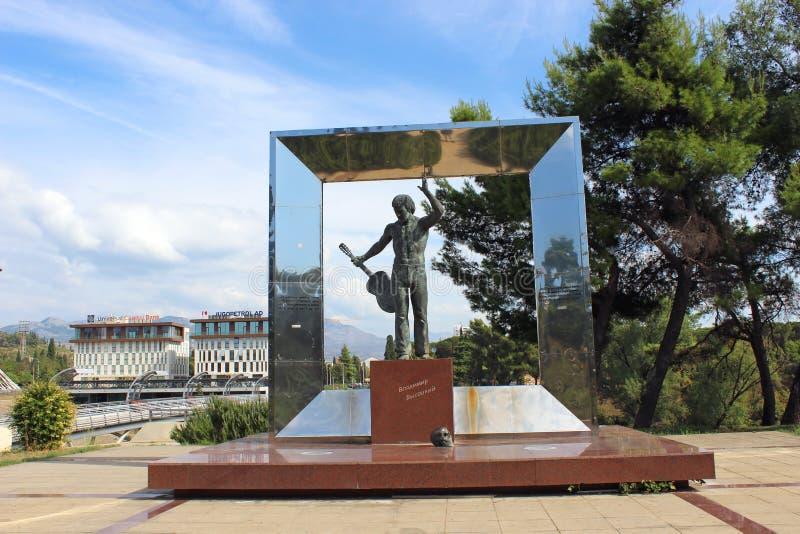 对弗拉基米尔・维索茨基的纪念碑 库存图片