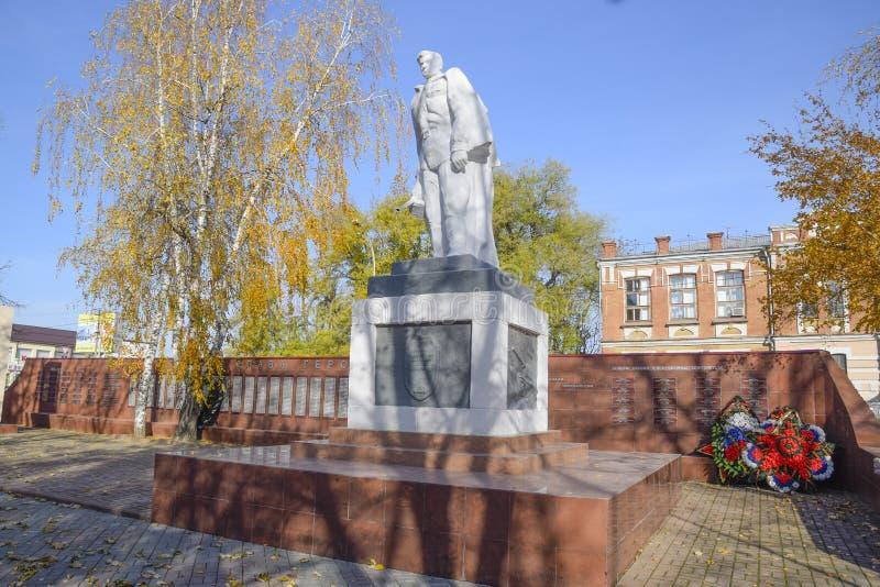 对德国侵略者的战争救星的纪念碑在世界Wa期间的 免版税库存照片