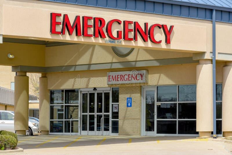 对急症室的入口 库存照片