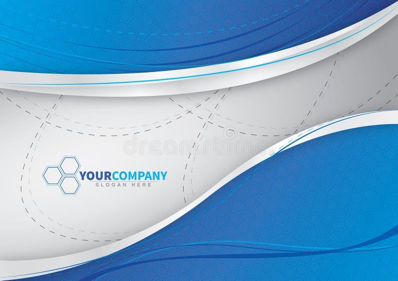 对您的企业蓝色背景设计 皇族释放例证