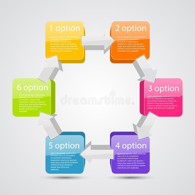 与箭头和正文的企业项目 库存例证