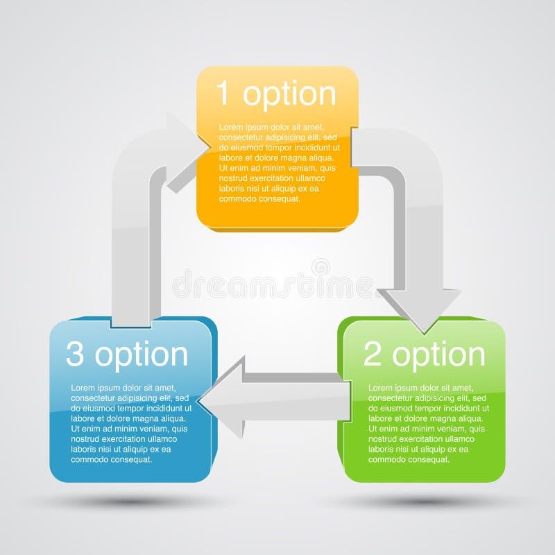 与箭头和正文的企业项目 向量例证