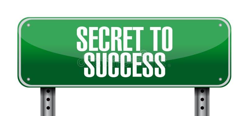 对成功岗位标志概念的秘密 向量例证