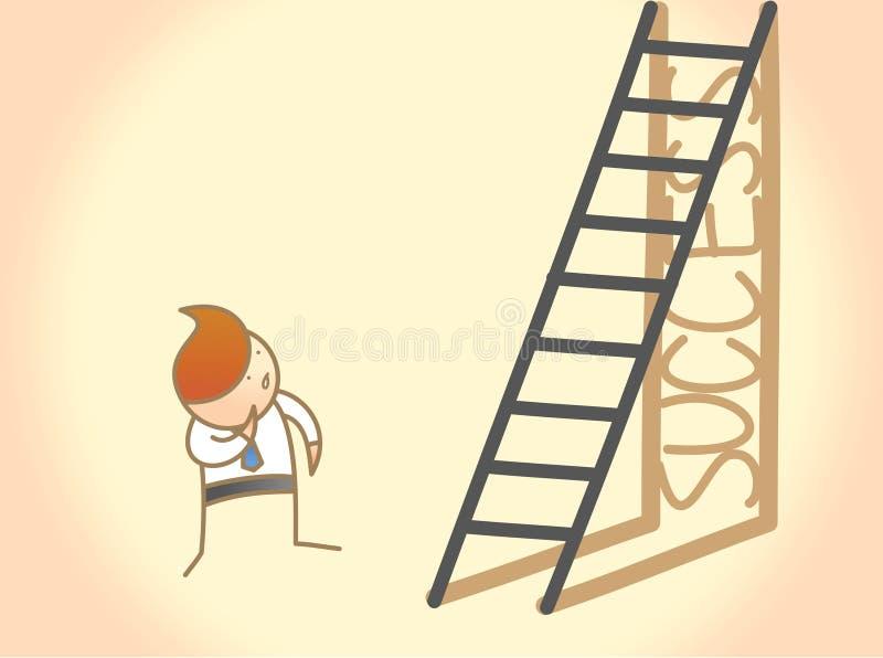 对成功梯子的商人问题 库存例证