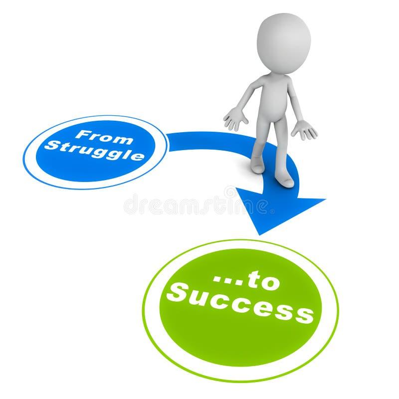 对成功的奋斗 向量例证