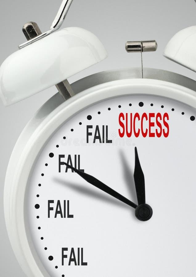 对成功通过失败创造性的概念,对succes的长的路 向量例证