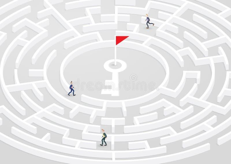 对成功2的迷宫 向量例证