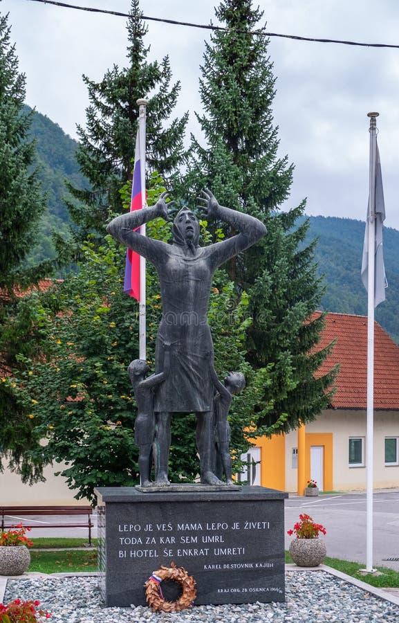对战争的儿童受害者的纪念品,奥西尔尼察 斯洛文尼亚 免版税图库摄影