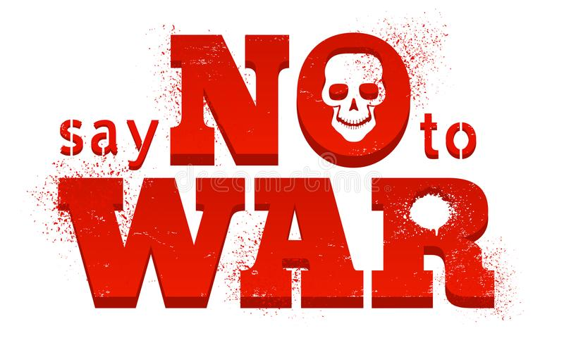 对战争说不 向量例证