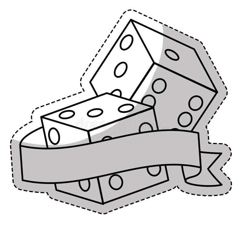 对把象切成小方块 库存例证