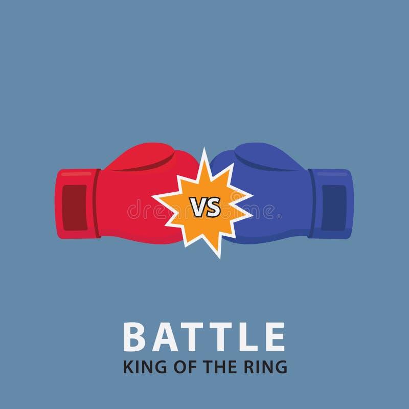 对拳击手套 拳击争斗例证 向量例证