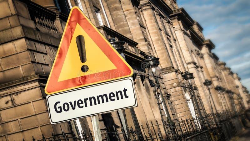 对政府的路牌 库存图片