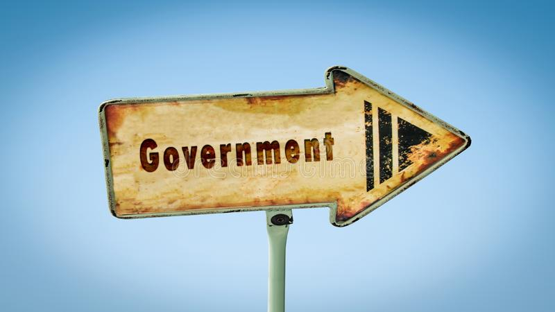 对政府的路牌 免版税库存照片