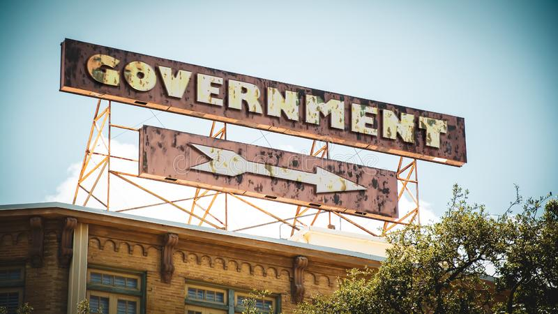 对政府的路牌 图库摄影
