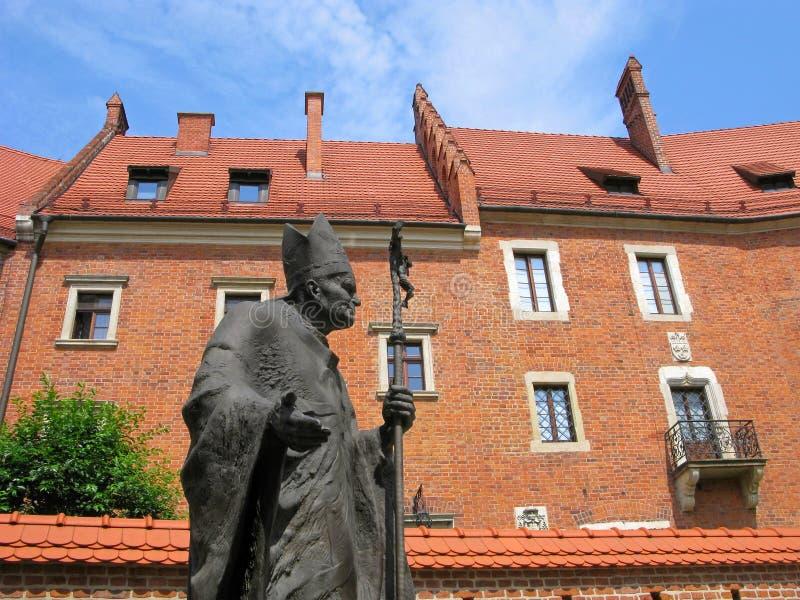 对教皇约翰・保罗二世的纪念碑 库存图片