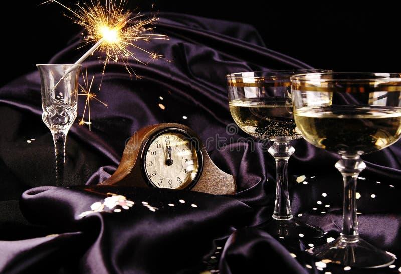 对新年度的读秒 库存图片