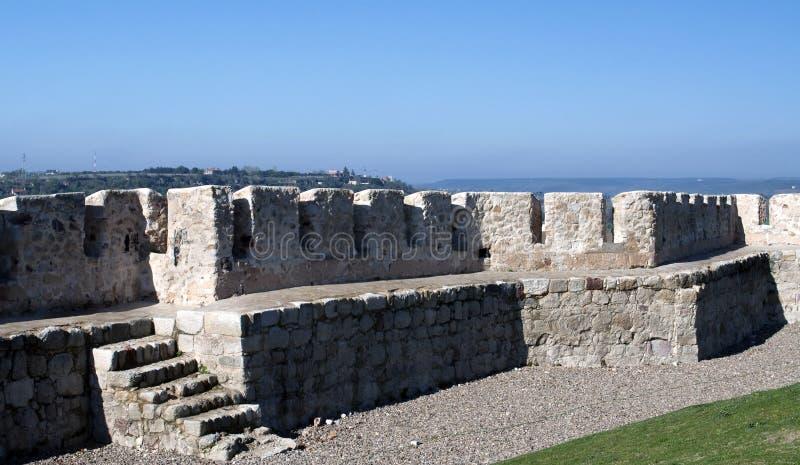 对方式的城堡台阶 免版税库存照片
