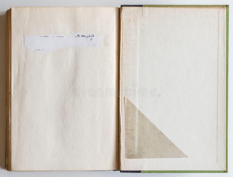 对最后页被打开的空白的书 免版税库存图片