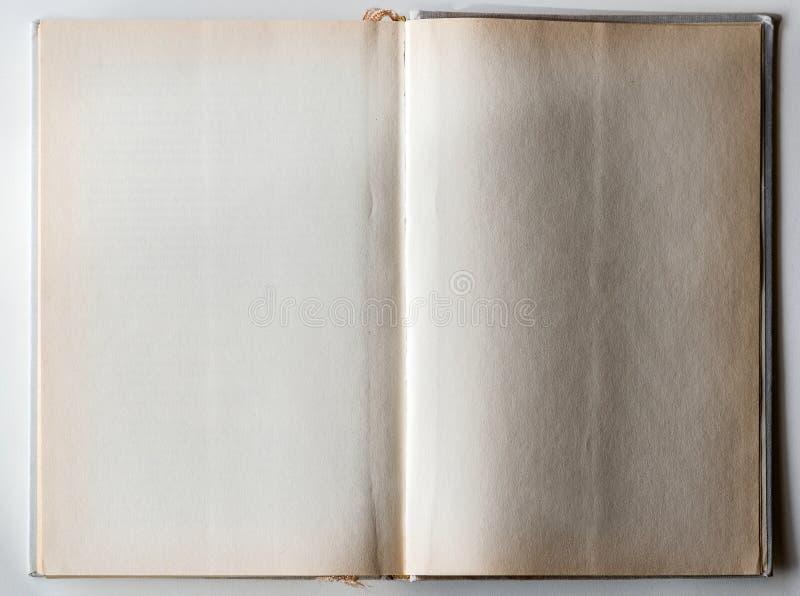 对最后页被打开的空白的书 免版税库存照片