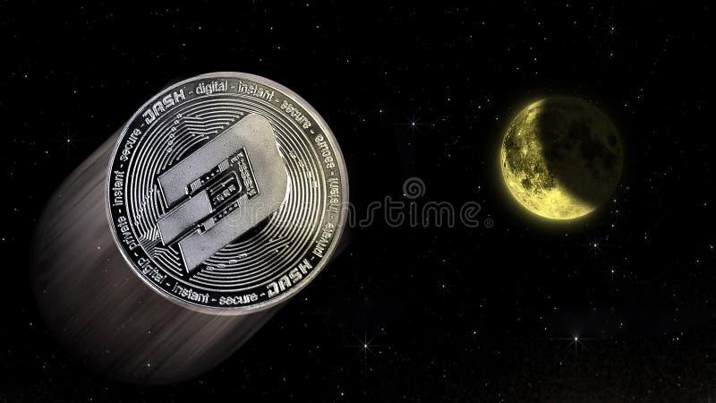 对月亮的破折号隐藏价格上升,易爆的incr的概念性贸易 免版税库存图片