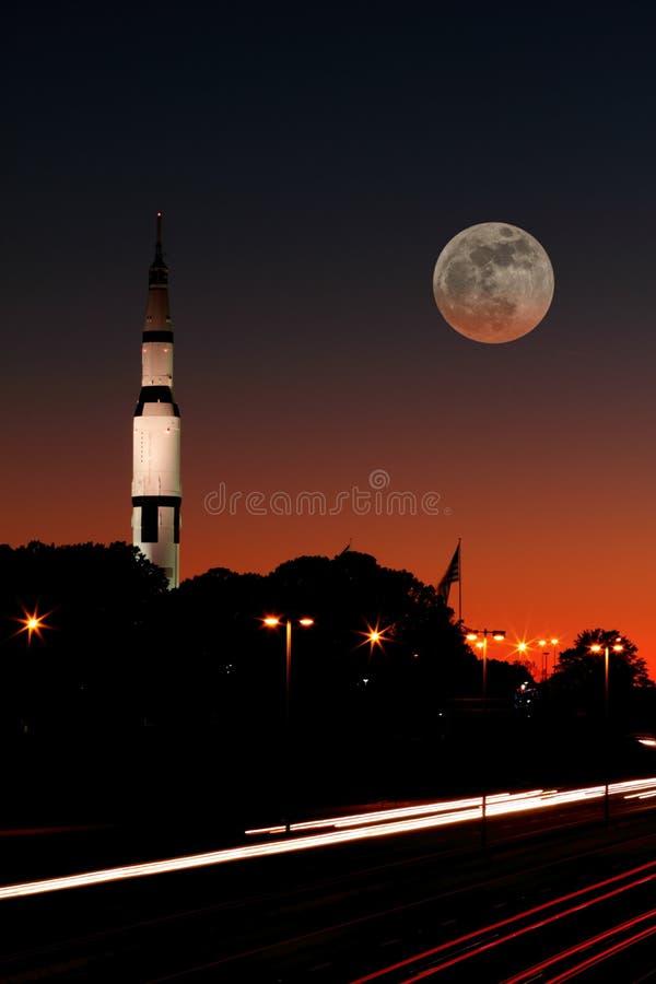 对月亮 库存图片