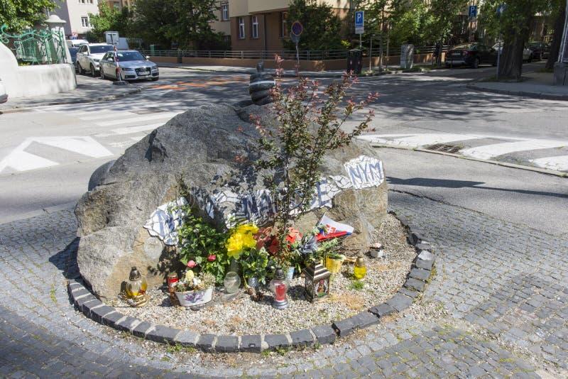 对未出生的孩子的纪念碑在布拉索夫 免版税库存照片
