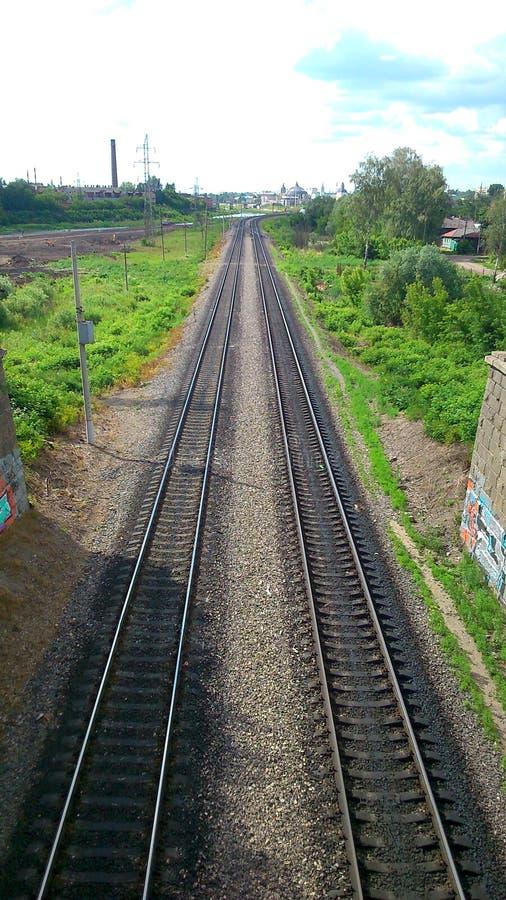 对未来的铁路 免版税库存照片