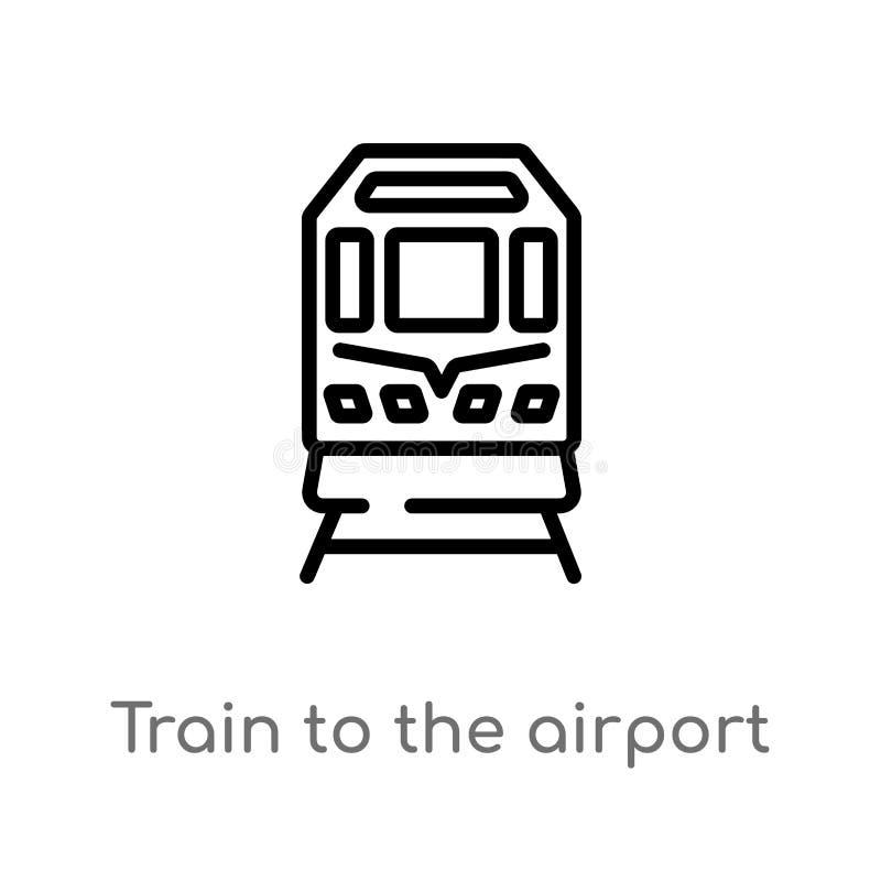 对机场传染媒介象的概述火车 E r 向量例证