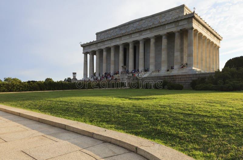 对林肯纪念堂的看法在日落 c d房子华盛顿白色 C ,美国 库存图片