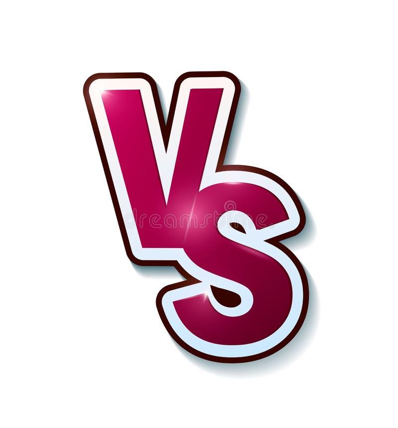 对标志喜欢反对 交锋的概念,一起,隔离,最后的战斗 背景查出的白色 对 Vecto 向量例证