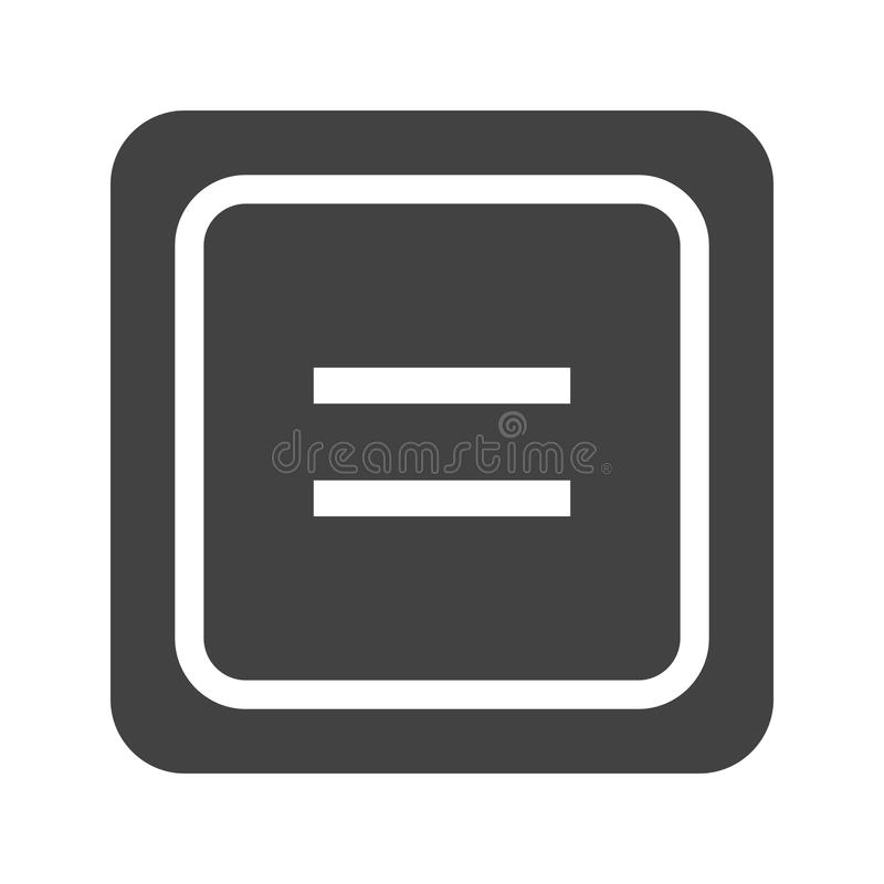 对标志的均等 库存例证