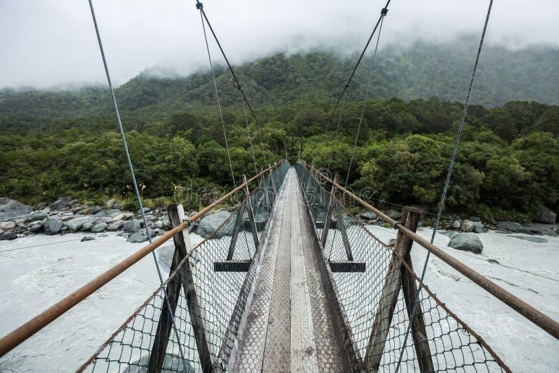 对森林的暂停的桥梁 免版税库存照片
