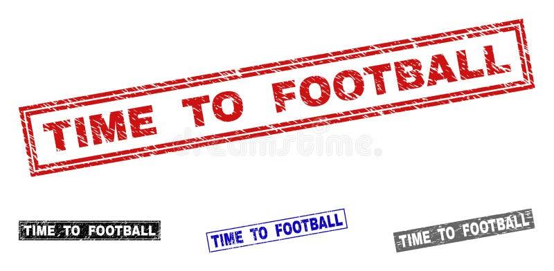 对橄榄球的难看的东西时间构造了长方形邮票封印 皇族释放例证