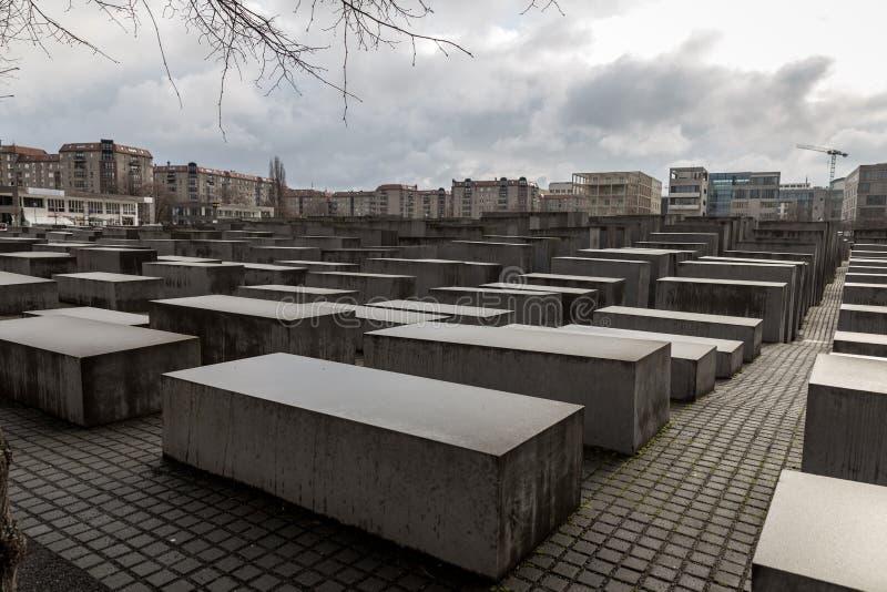 对欧洲的被谋杀的犹太人的纪念品在柏林,德国 图库摄影