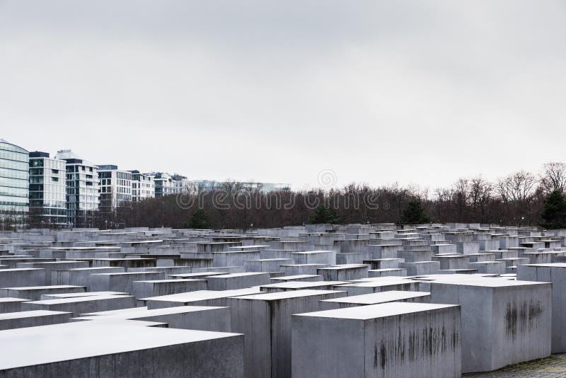 对欧洲,柏林,德国的被谋杀的犹太人的浩劫纪念品 免版税图库摄影