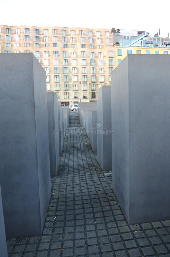 对欧洲-浩劫纪念柏林的被谋杀的犹太人的纪念品 库存照片