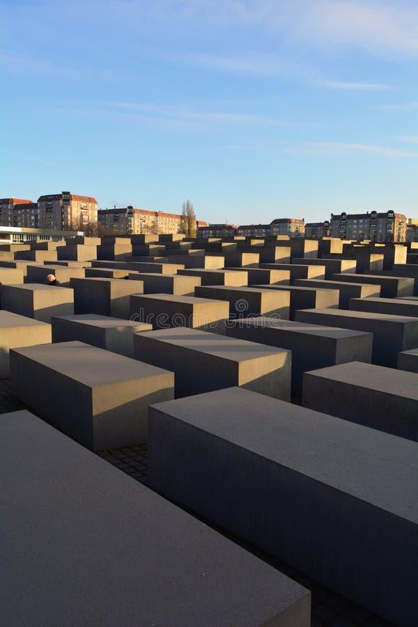 对欧洲(浩劫)的被谋杀的犹太人的纪念品在柏林 库存照片