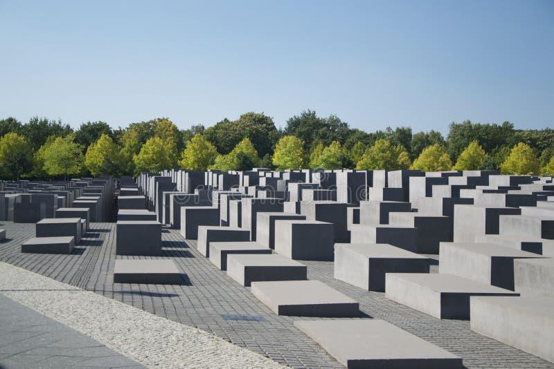 对欧洲,柏林的被谋杀的犹太人的纪念品 库存图片