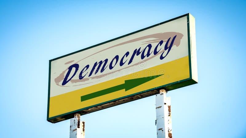 对民主的路牌 图库摄影