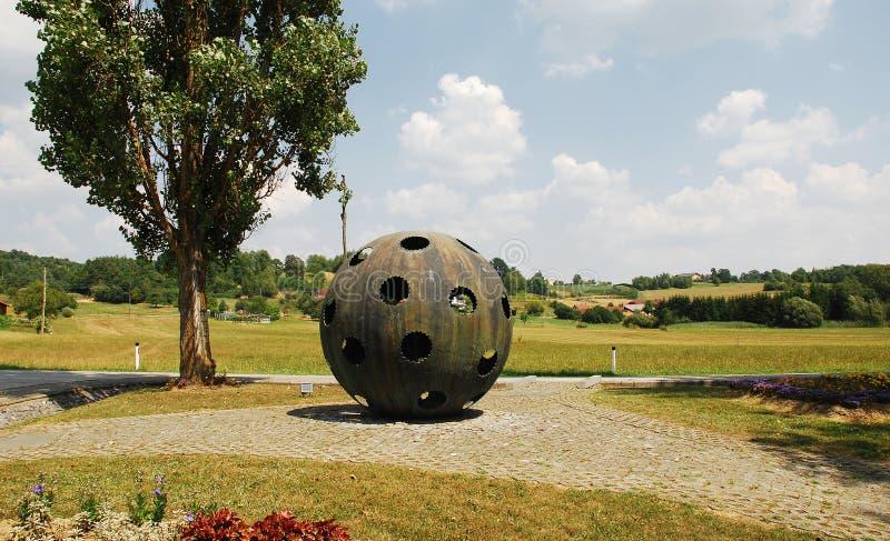 对气球驾驶者的纪念碑 免版税图库摄影