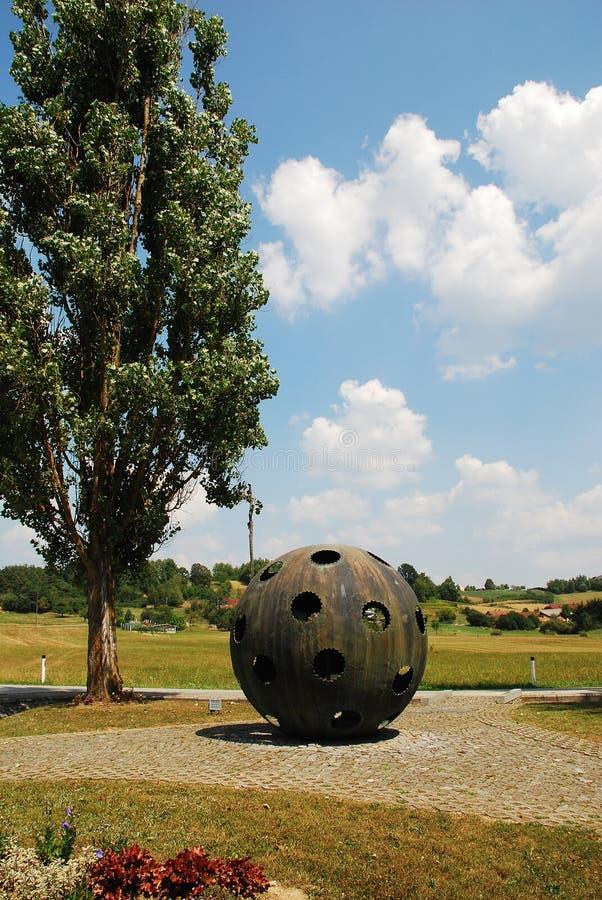 对气球驾驶者的纪念碑 库存图片