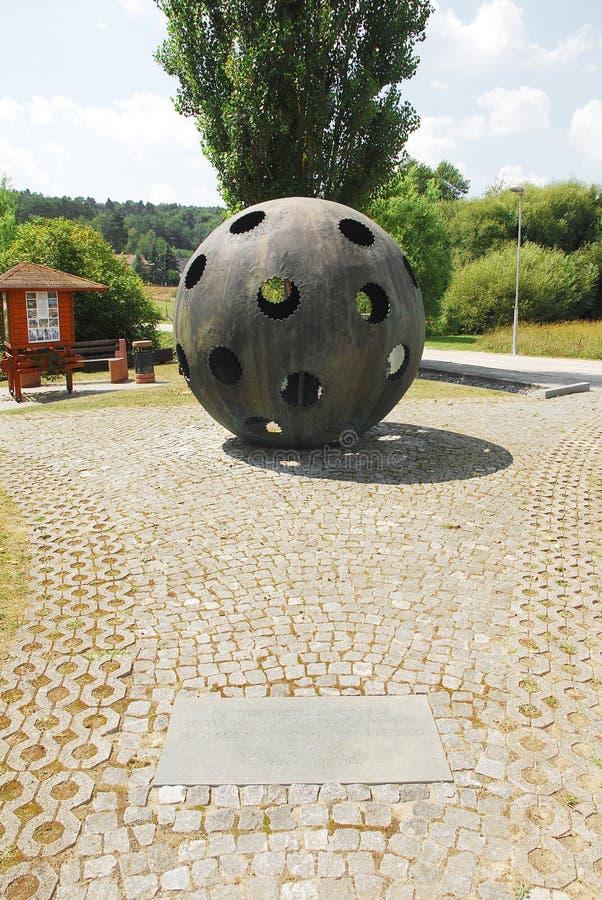 对气球驾驶者的纪念碑 免版税库存照片