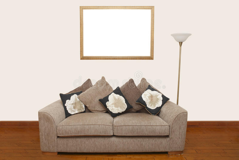 对沙发墙壁 免版税库存照片