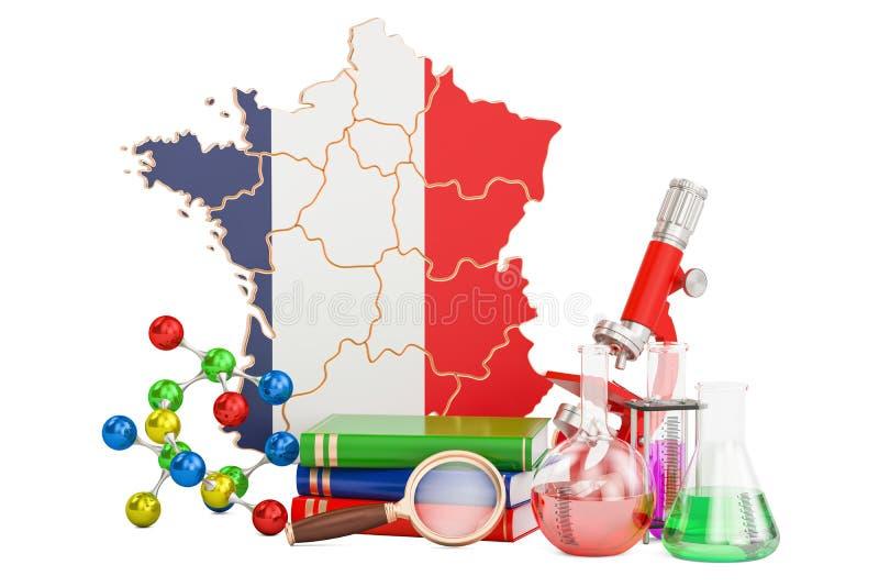 对法国概念, 3D的科学研究翻译 向量例证